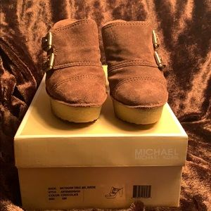 Michael Kors McGraw double buckle suede shoes 6